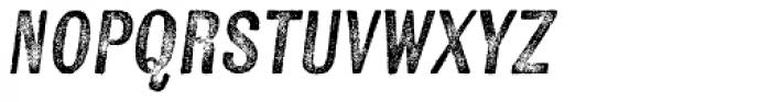 Kiln Sans Regular Italic Font UPPERCASE