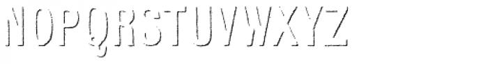 Kiln Sans Shadow Font LOWERCASE