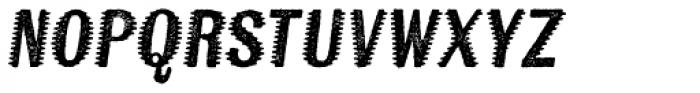 Kiln Sans Spiked Italic Font LOWERCASE