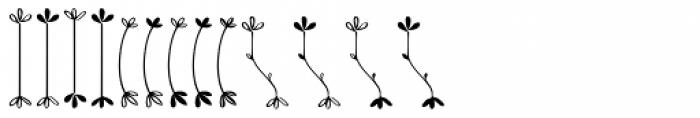 Kinfolk Pro Flowers Font UPPERCASE