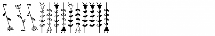 Kinfolk Pro Flowers Font LOWERCASE
