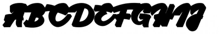 Kingfisher Extruded Font UPPERCASE