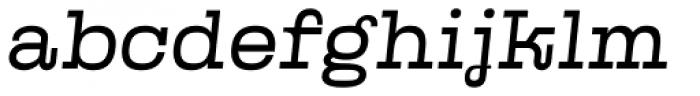 Kinghorn 105 Light Oblique Font LOWERCASE