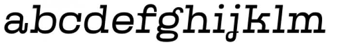 Kinghorn 205 Light Oblique Font LOWERCASE