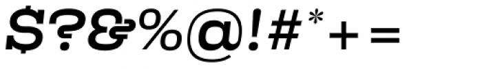Kinghorn 205 Medium Oblique Font OTHER CHARS