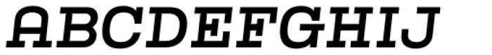 Kinghorn 205 Medium Oblique Font UPPERCASE