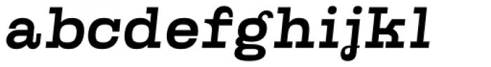 Kinghorn 205 Medium Oblique Font LOWERCASE