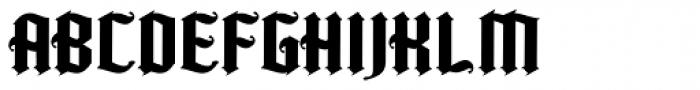Kingshead Alternate Gothic Font UPPERCASE