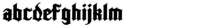 Kingshead Alternate Gothic Font LOWERCASE