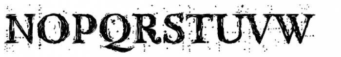 Kingthings Scrybbledot Pro Font UPPERCASE