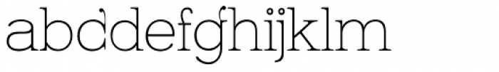Kingthings Serifique Pro Thin Font LOWERCASE