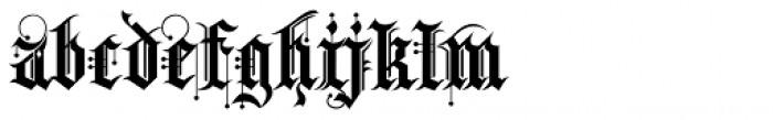 Kingthings Spike Pro Font LOWERCASE