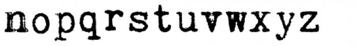 Kingthings Trypewriter Pro Font LOWERCASE