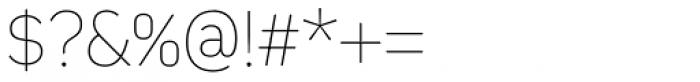 Kiro Thin Font OTHER CHARS