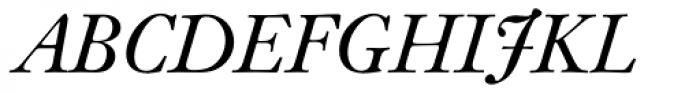 Kis BQ Italic SC Font UPPERCASE