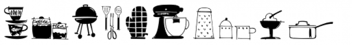 Kitchen Doodles Font LOWERCASE