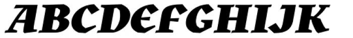 Kitsch Black Italic Font UPPERCASE
