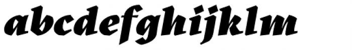 Kitsch Black Italic Font LOWERCASE