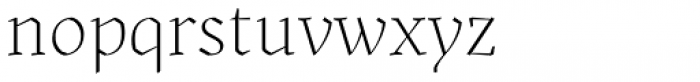 Kitsch Extralight Font LOWERCASE