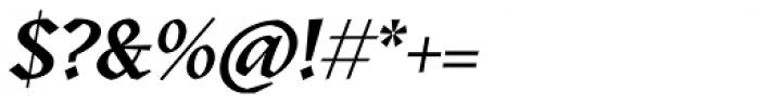Kitsch Semibold Italic Font OTHER CHARS
