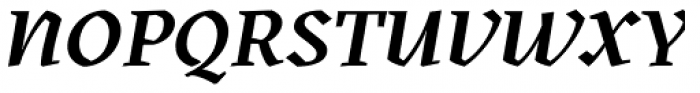 Kitsch Semibold Italic Font UPPERCASE