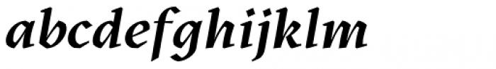 Kitsch Semibold Italic Font LOWERCASE