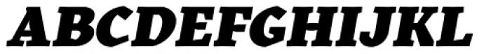 Kitsch Text Black Italic Font UPPERCASE