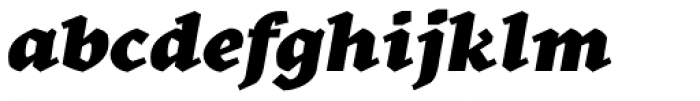 Kitsch Text Black Italic Font LOWERCASE