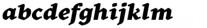 Kitsch Text Extrabold Italic Font LOWERCASE