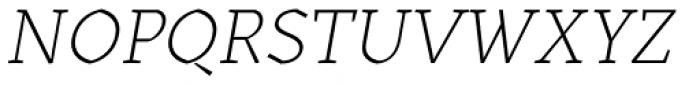 Kitsch Text Extralight Italic Font UPPERCASE