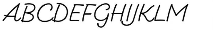 Kitten Monoline Font UPPERCASE