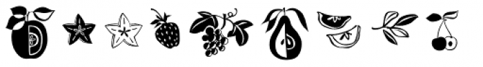 Kiwi Fruits Font LOWERCASE