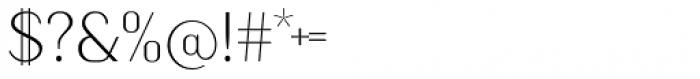 Kiyana Display Ultra Light Font OTHER CHARS