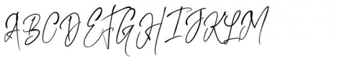 Kiysoom Signature Regular Font UPPERCASE