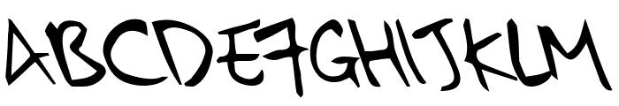 kkontagion print Italic Font UPPERCASE