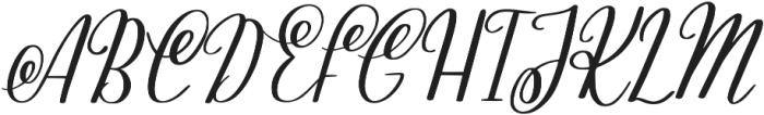 KL Ashleigh Regular otf (400) Font UPPERCASE