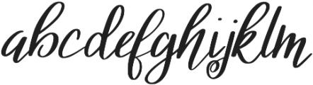 KL Ashleigh Regular otf (400) Font LOWERCASE