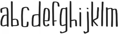 KL Boldface Regular otf (700) Font LOWERCASE