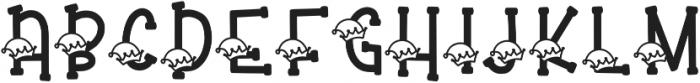 KL Elfed Regular otf (400) Font UPPERCASE