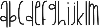 KL Sandcastles Regular otf (400) Font UPPERCASE