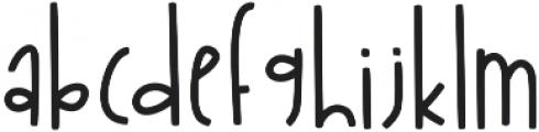 KL Sandcastles Regular otf (400) Font LOWERCASE