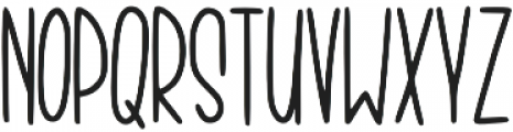 KL Thorny Regular otf (400) Font LOWERCASE