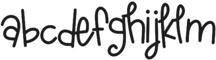 KLAGoldfishTale Regular otf (400) Font LOWERCASE
