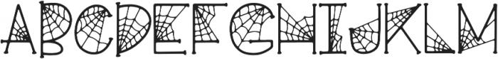 KLCobwebs Regular otf (400) Font UPPERCASE
