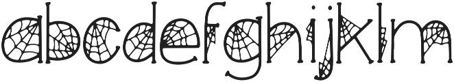 KLCobwebs Regular otf (400) Font LOWERCASE
