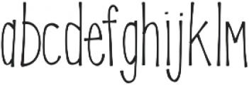 KLSweetPineappleThin ttf (100) Font LOWERCASE