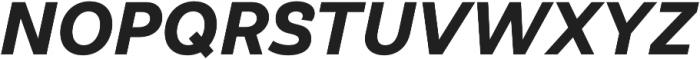 Klainy Bold Italic otf (700) Font UPPERCASE