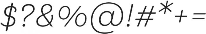 Klainy Light Italic otf (300) Font OTHER CHARS