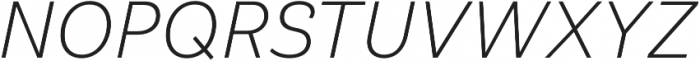 Klainy Light Italic otf (300) Font UPPERCASE