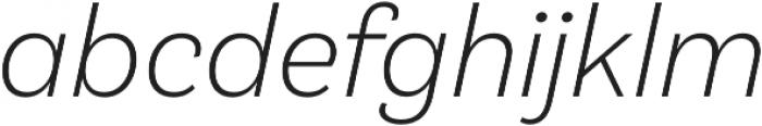 Klainy Light Italic otf (300) Font LOWERCASE